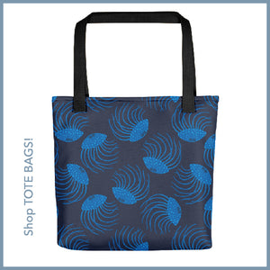 Coastal Jellyfish Print Tote Bag from UnBlink Studio by Jackie Tahara