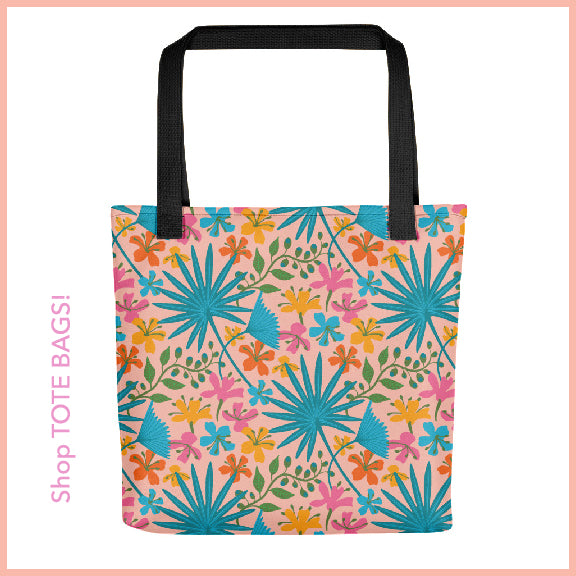 Tropical Print Tote Bag from UnBlink Studio by Jackie Tahara