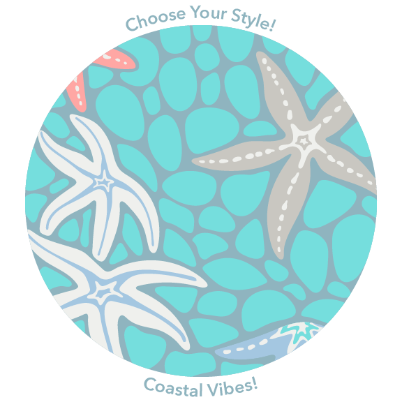 Coastal pattern design from UnBlink Studio by Jackie Tahara