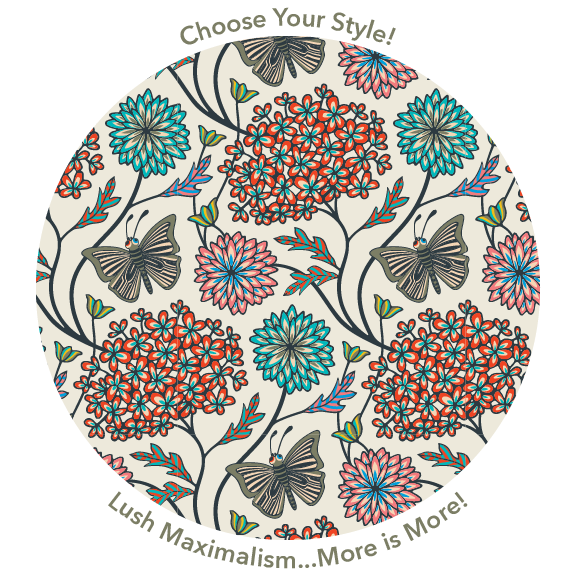 Maximalism pattern design from UnBlink Studio by Jackie Tahara