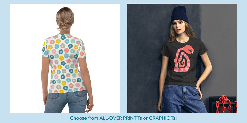 T-Shirt designs from UnBlink Studio by Jackie Tahara