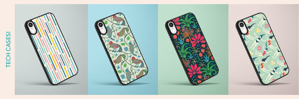Phone case designs from UnBlink Studio by Jackie Tahara