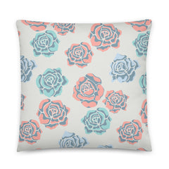 Rose print pillow from UnBlink Studio by Jackie Tahara