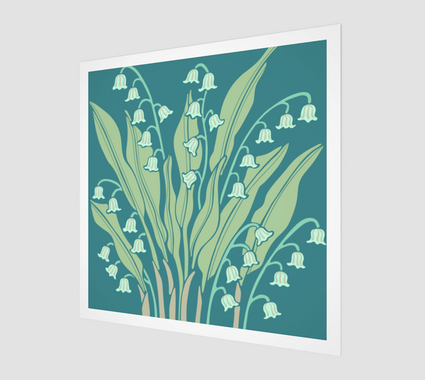 Happiness - Fine Art Print - in Teal