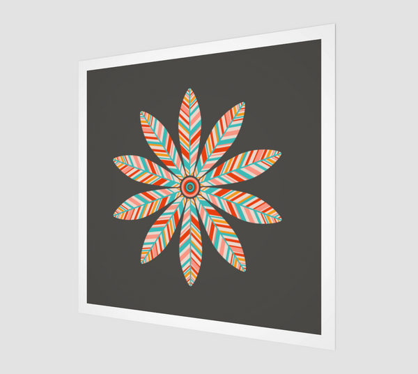 Petal Mandala - Fine Art Print - in Dark