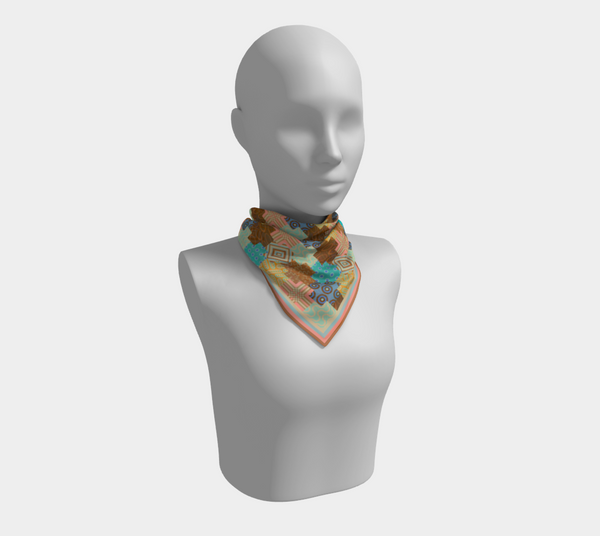 Palm Canyon - Square Silk Scarf