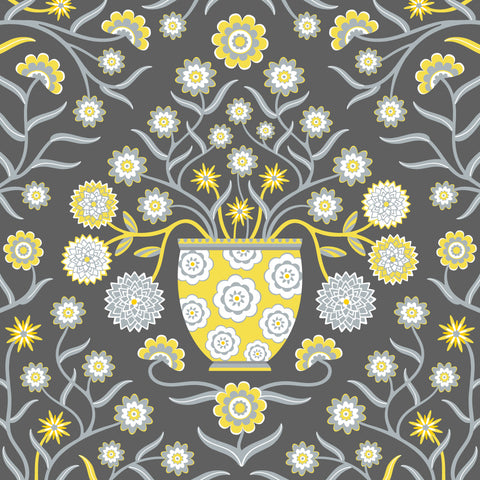 Jardiniere - Fine Art Print - in Yellow/Gray