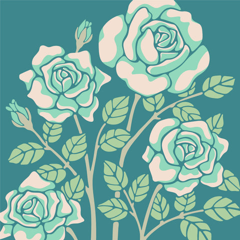 Rose-Coloured - Fine Art Print - in Teal