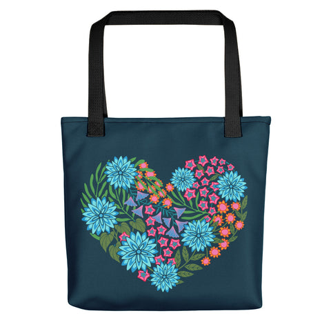 Flowered LOVE - Flowered Heart - Tote bag