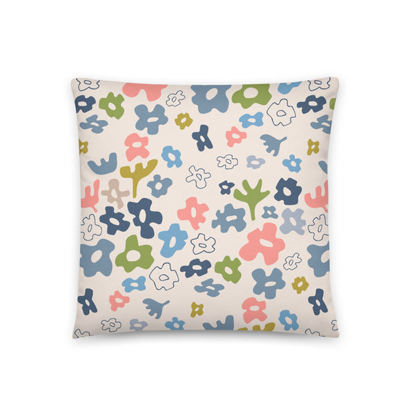 Flower Fields Print - Throw Pillow