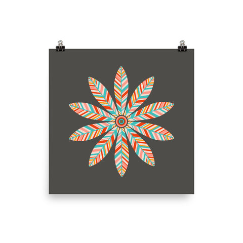 Petal Mandala - Art Print - in Dark