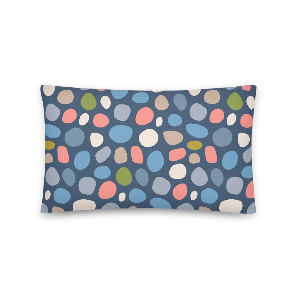 Pebbled Print - Throw Pillow - in Dark