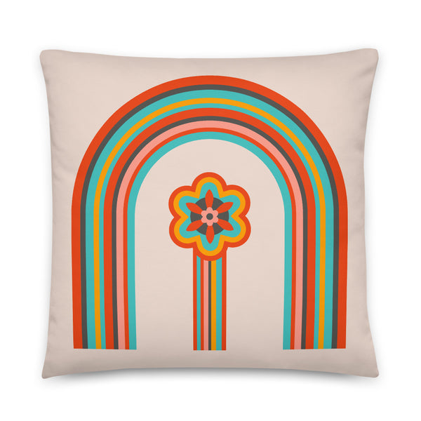 Colours of the Rainbow - Throw Pillow - in Light
