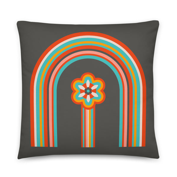 Colours of the Rainbow - Throw Pillow - in Dark