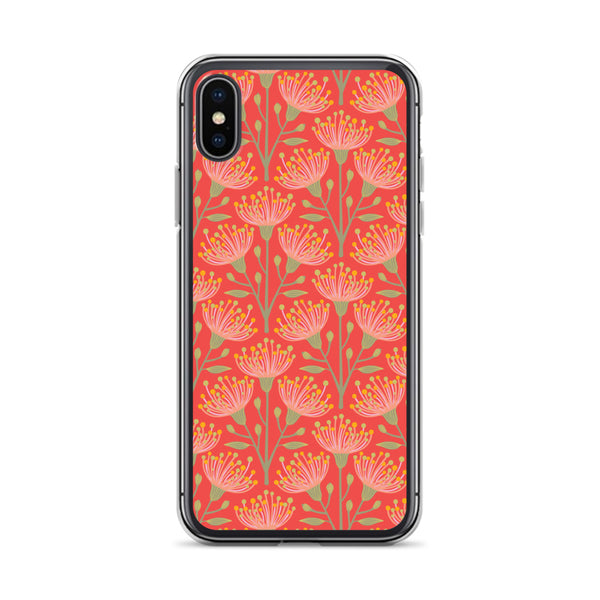 Eucalyptus Print - iPhone Case - in Coral