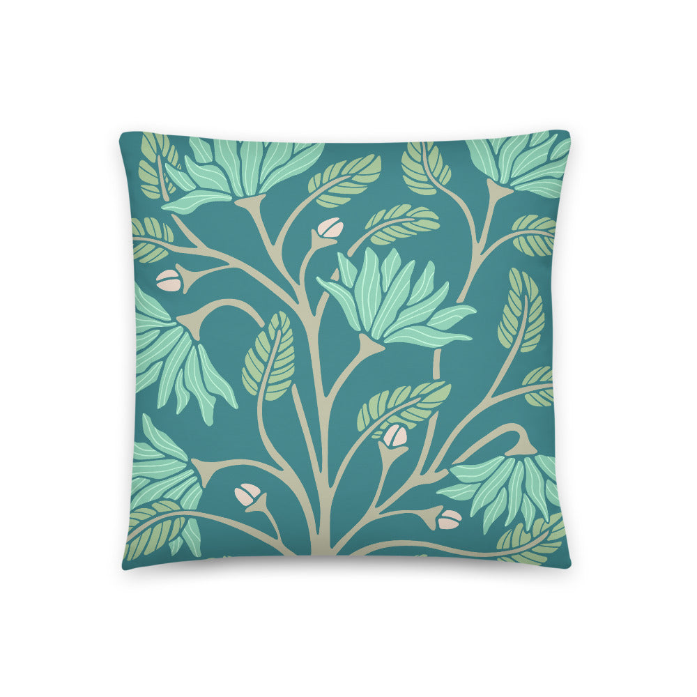 Serenity - Throw Pillow - in Teal
