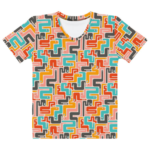 Retro Rattlers Print - Women's All-Over Print T-Shirt