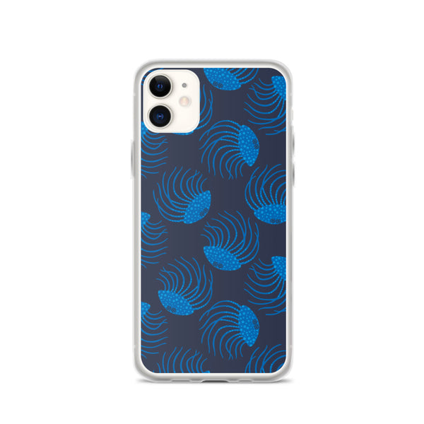 Jellyfish Print - iPhone Case - in Blue