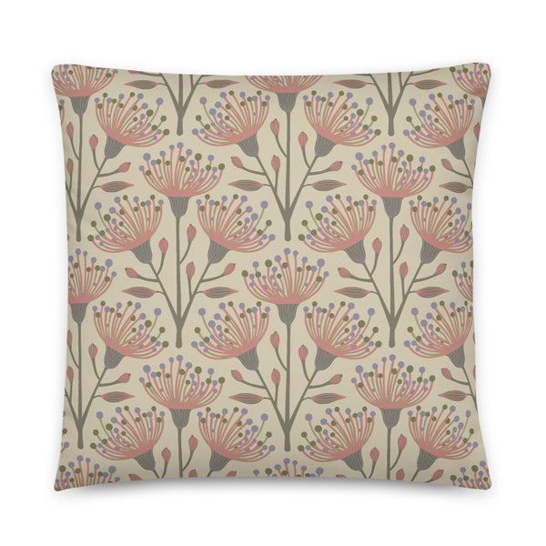 Eucalyptus Print - Throw Pillow - in Natural