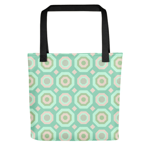 Halcyon Geos Print - Tote Bag - in Teal