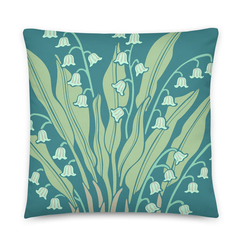 Happiness - Throw Pillow - in Teal