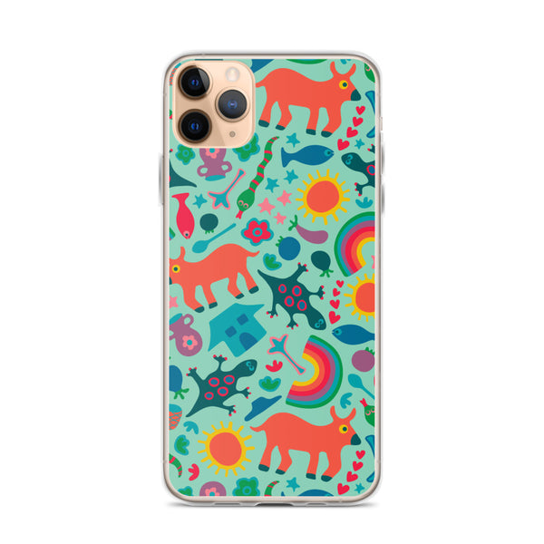 In the Village Print - iPhone Case