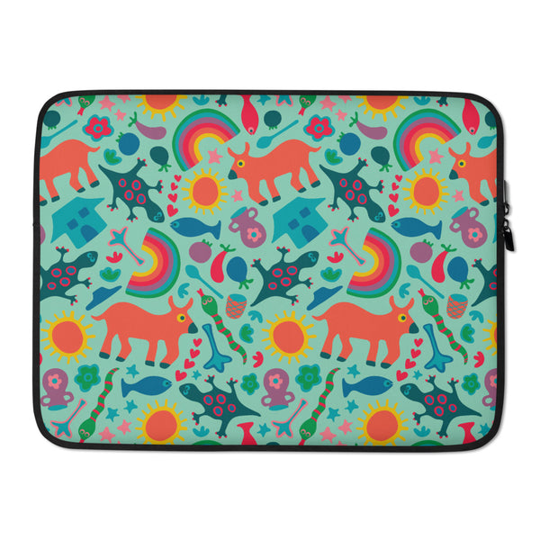 In the Village Print - Laptop Sleeve