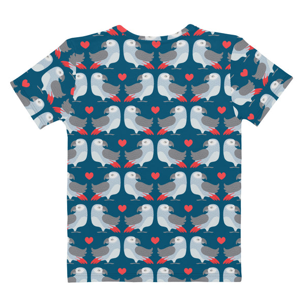 Parrot Love Print - Women's All-Over Print T-Shirt