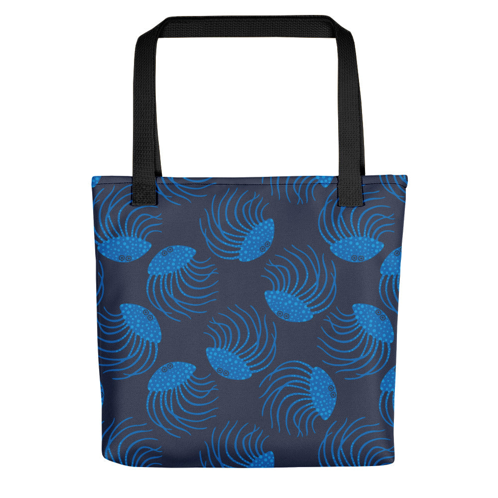 Jellyfish Print - Tote Bag - in Blue
