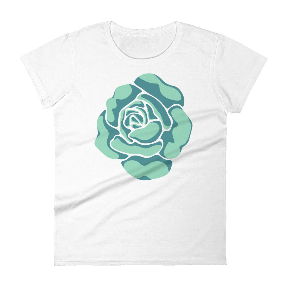 Rose-Coloured - Women's T-Shirt - in Teal