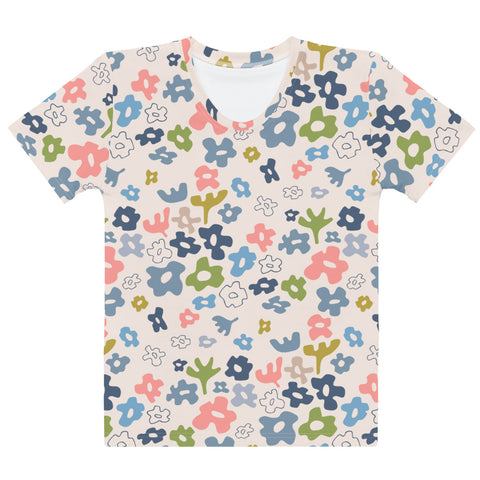 Flower Fields Print - Women's All-Over Print T-Shirt