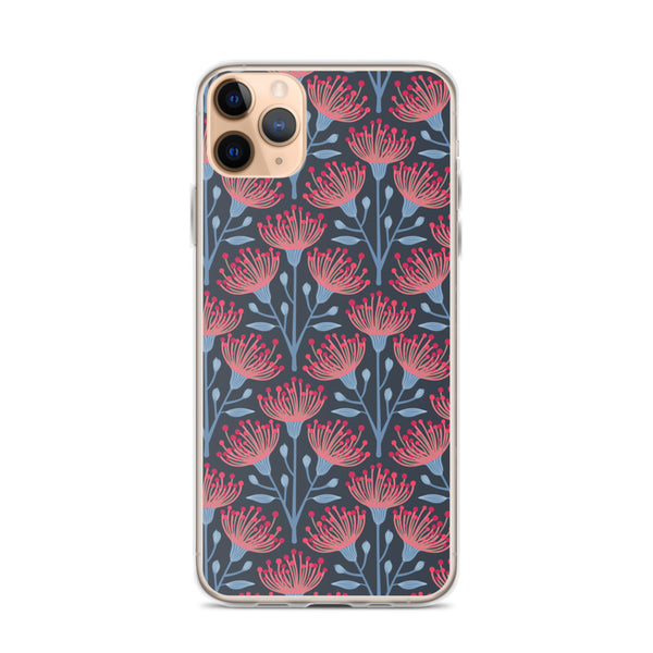 Eucalyptus Print - iPhone Case - in Navy