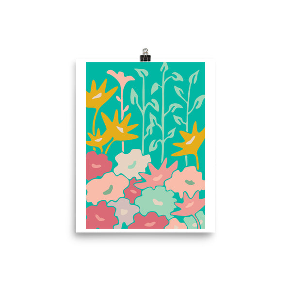 Jardin-Garden Bed - Art Print