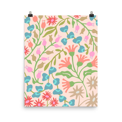 Flat Lay Floral-2 - Art Print - in Pastels