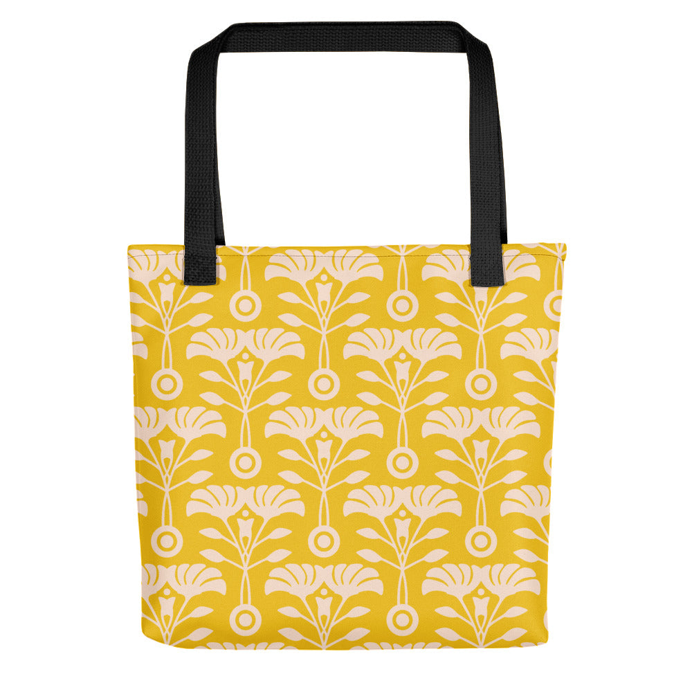 Art Nouveau Print - Tote Bag - in Yellow