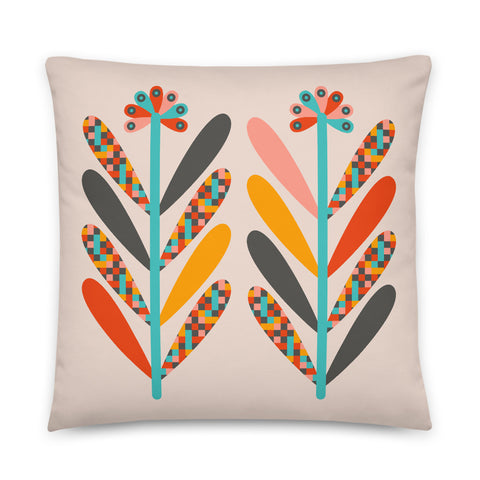 Blooms - Throw Pillow - in Light
