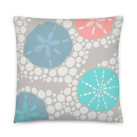 2-Prints-In-1 Pillow! In the Surf (Front) and Coral Gardens (Back) - Throw Pillow