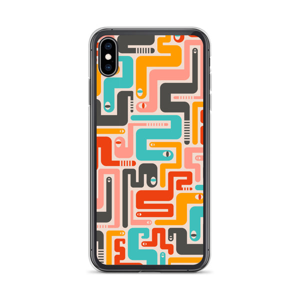 Retro Rattlers Print - iPhone Case