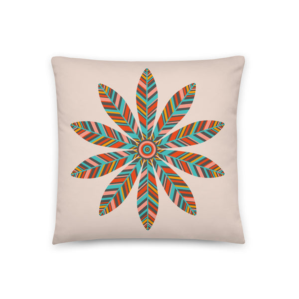 Petal Mandala - Throw Pillow - in Light