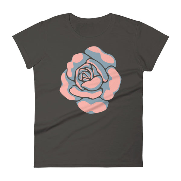Rose-Coloured - Women's T-Shirt - in Blue/Coral
