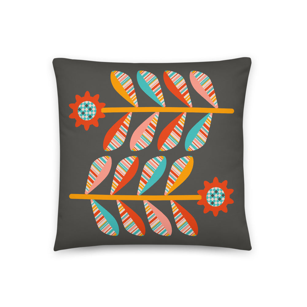 Sunflowers - Throw Pillow - in Dark