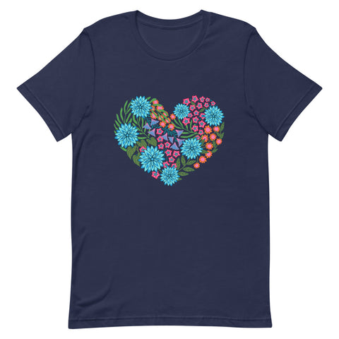 Flowered Heart - Men's T-Shirt