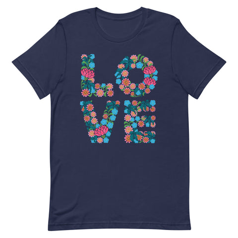 Flowered LOVE - Men's T-Shirt