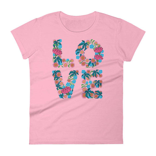 Flowered LOVE - Women's T-Shirt