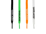 White, Black, Orange and Green SHoe Laces