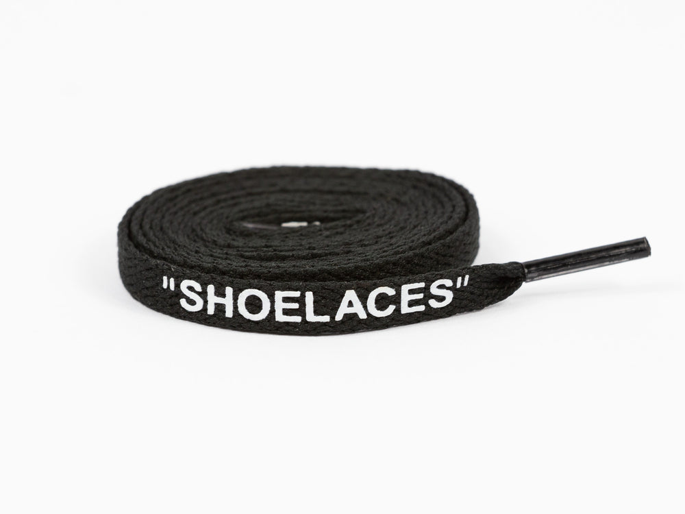 Off White Shoe Laces Black