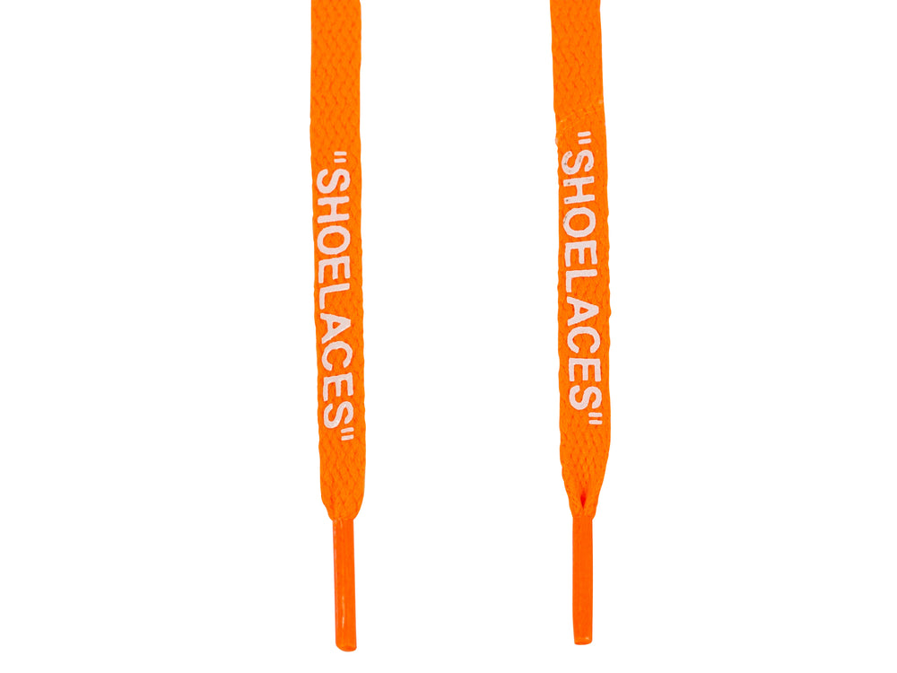 Off White Shoe Laces Orange
