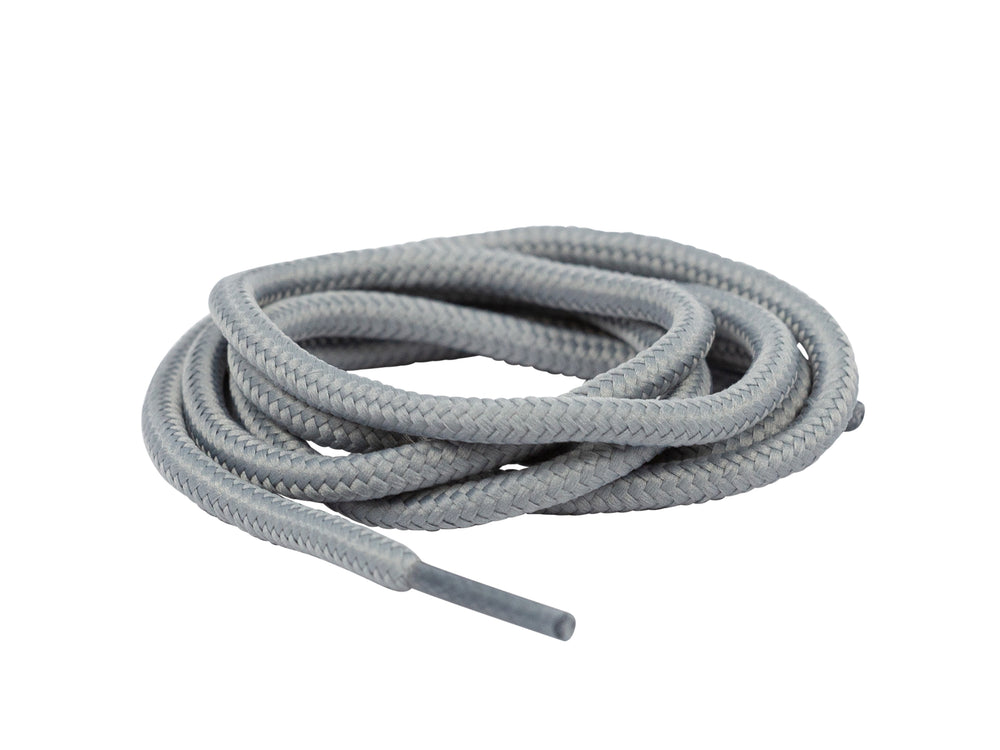 Heavy Duty Round Boot Laces Light Grey