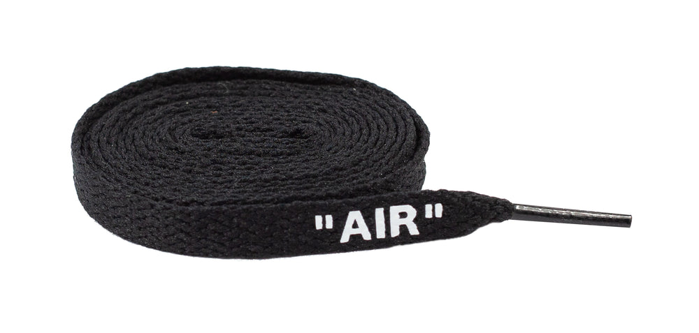 "Flat Sneaker Laces ""Air"" For Jordan, Nike Black"