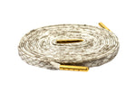 Premium Snakeskin Sneaker Laces With Gold Tips White